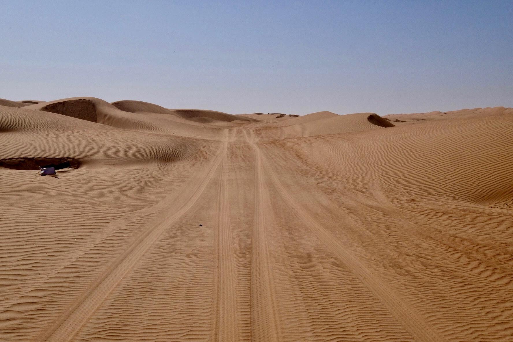 Vägen genom Wahabi Sands