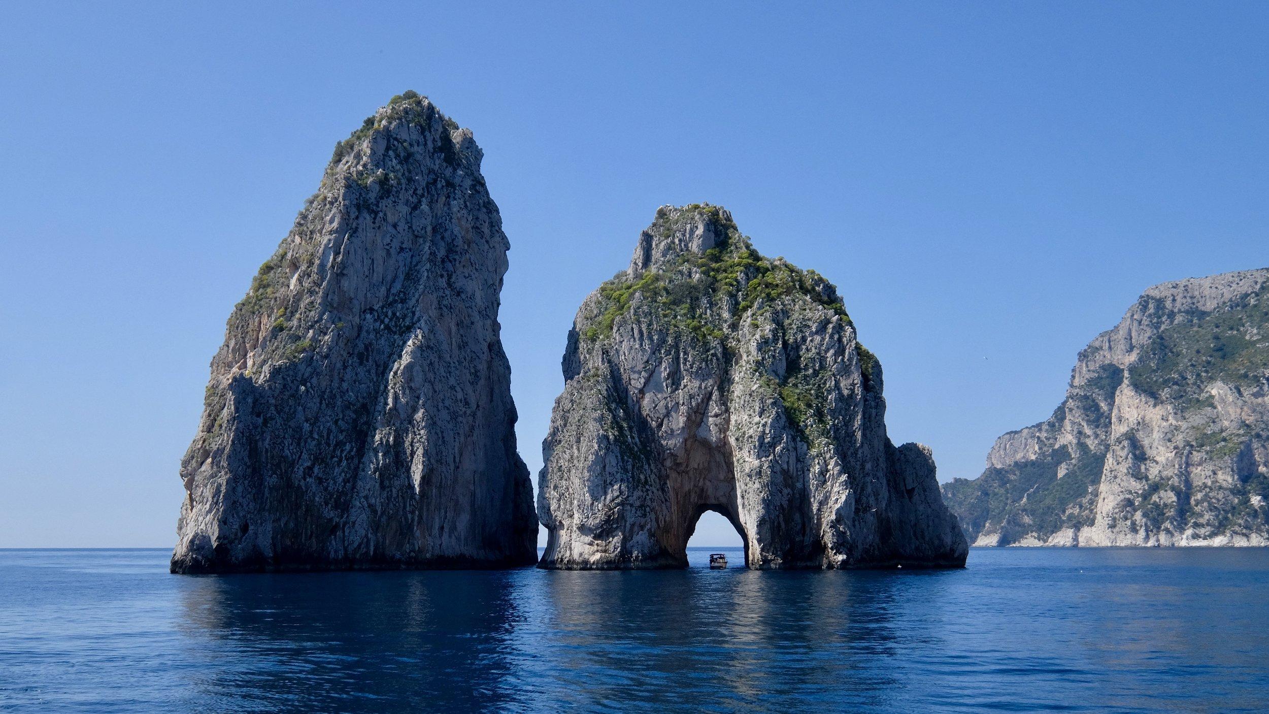 Båttur runt Capri
