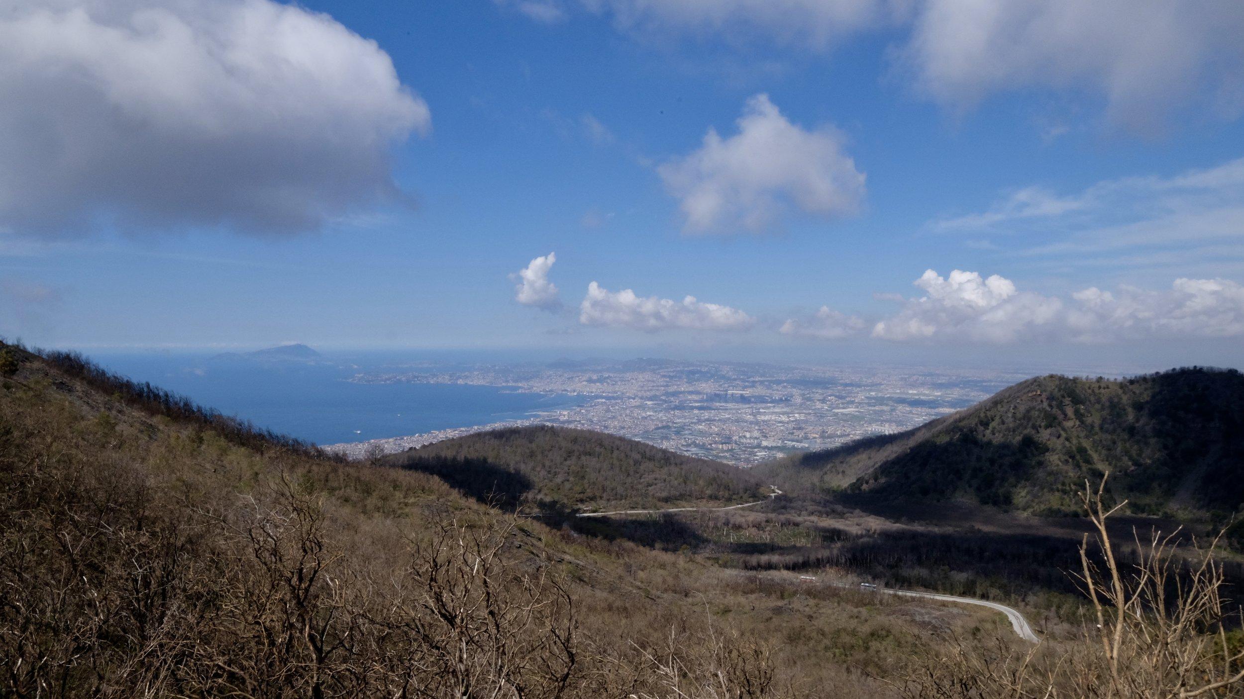 Utsikten uppe ifrån Vesuvius