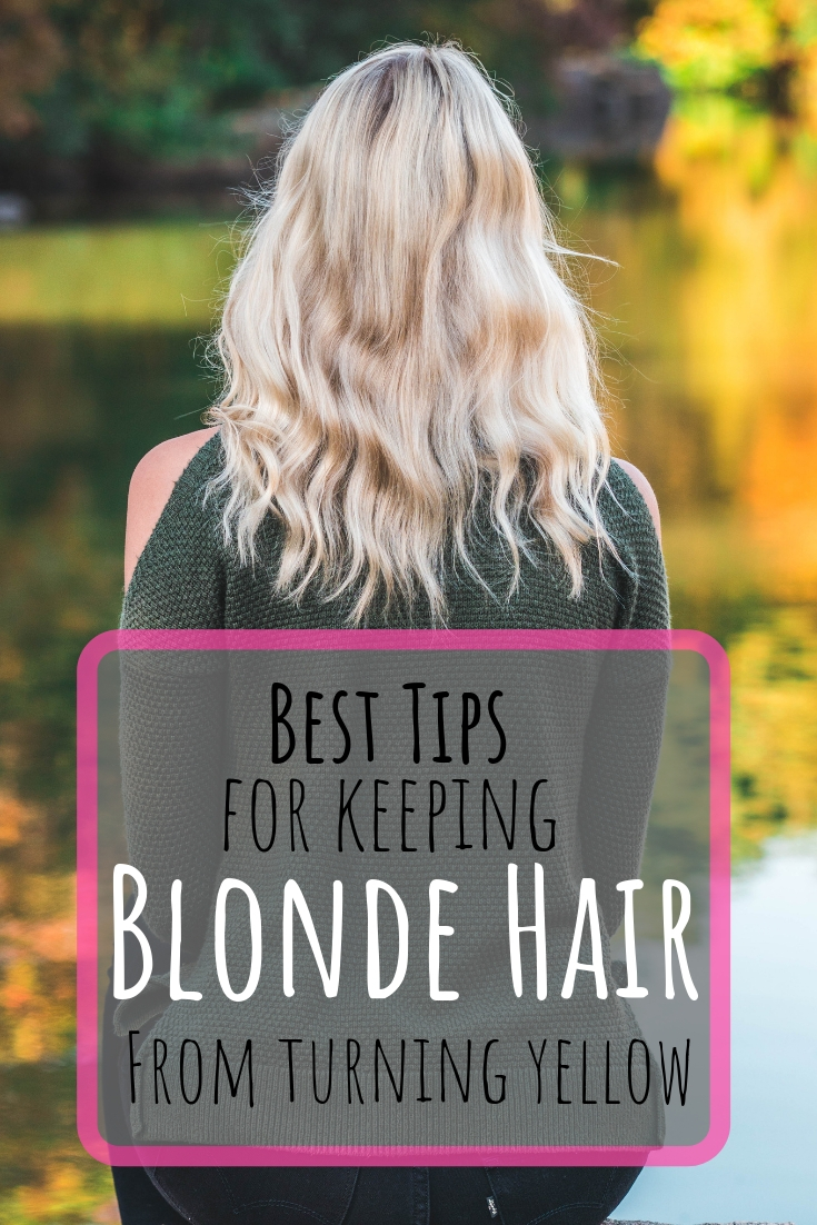 How to keep your blonde hair from turning yellow. How to make your hair look more platinum. How to care fro blonde hair. #healthyhair #honeyblonde #goldenblonde #platinumhair #balayage #coolblonde #naturalblonde #hairtips2019 #blondetoner #purpletoner #blondehair #hair #ashblonde #howto #hairstyles #2018