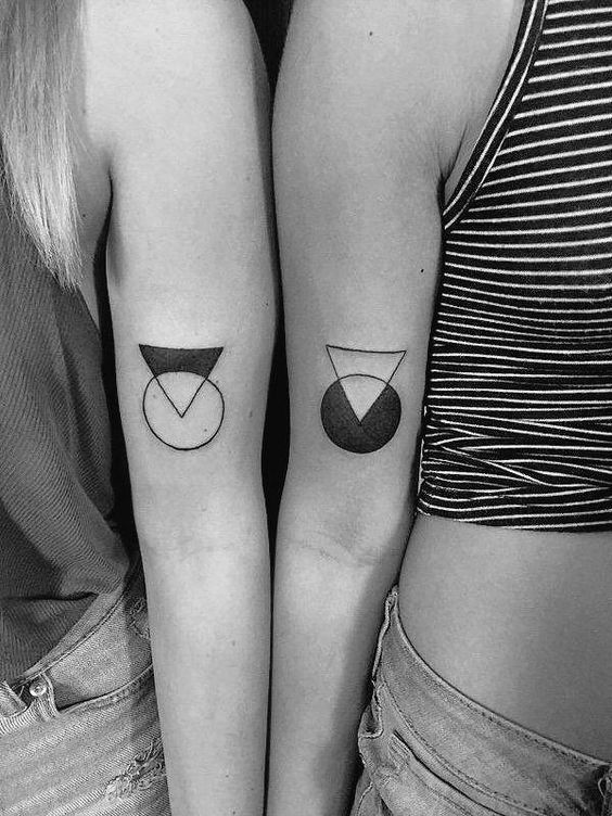 best-friend-tattoos-ideas-geometric