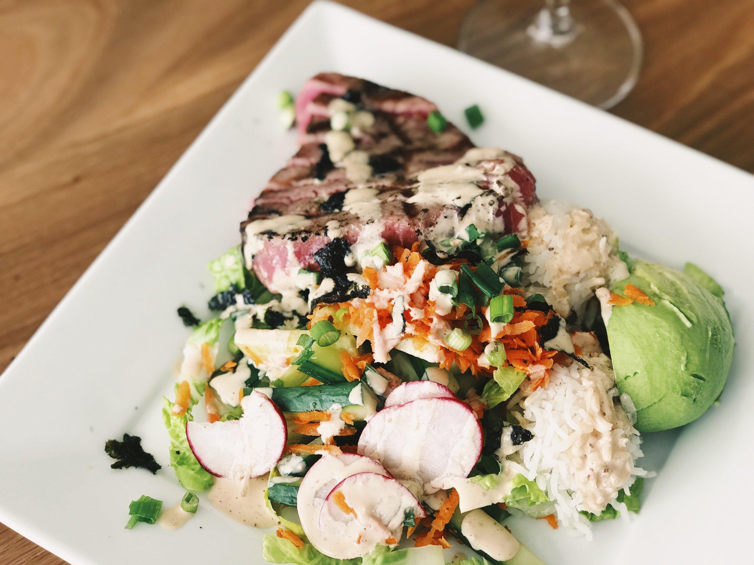 grilled ahi tuna filling salad recipe