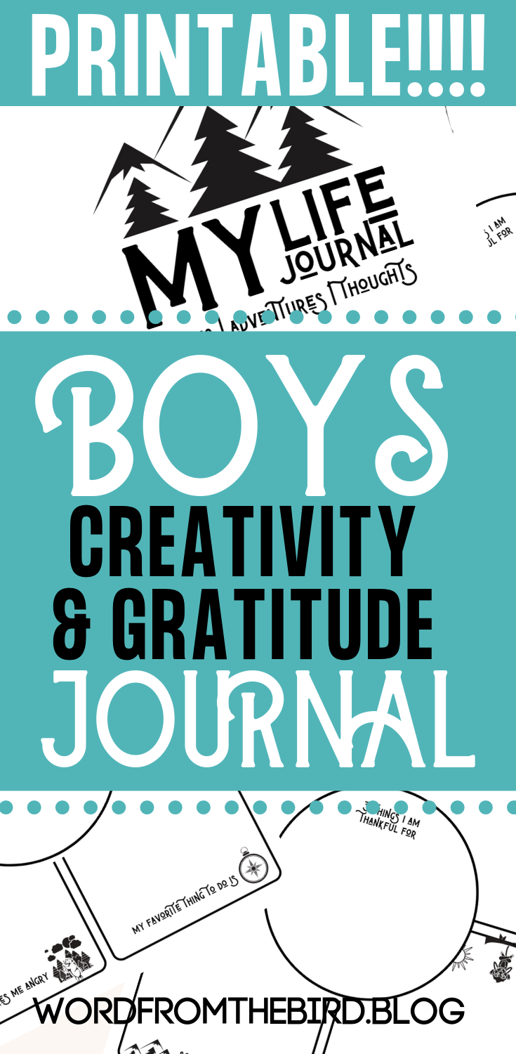 Creativity and gratitude printable journal for boys! Are you looking for a way to get your child to open up emotionally? Boys struggle with doing that. Find out what journaling can do for them when it comes to sharing their dreams, adventures, and gratitude. #journals #journaling #prompts #printables #printablejournals