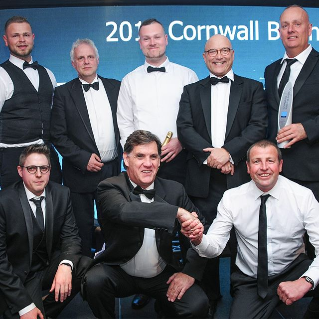 Proud of our team. CIS (UK) Ltd collecting Manufacturer Of The Year 2018 at Cornwall Business Awards. We are all absolutely thrilled, a big thanks to Cornwall and Isles of Scilly LEP, Cornwall Business Awards, our clients, family and friends #modular #construction #offsite #precisionhomes #cisukltd #cisgroup #ukhousing #offsiteconstruction #steelframe #cba2018 #Newquay #cornwall