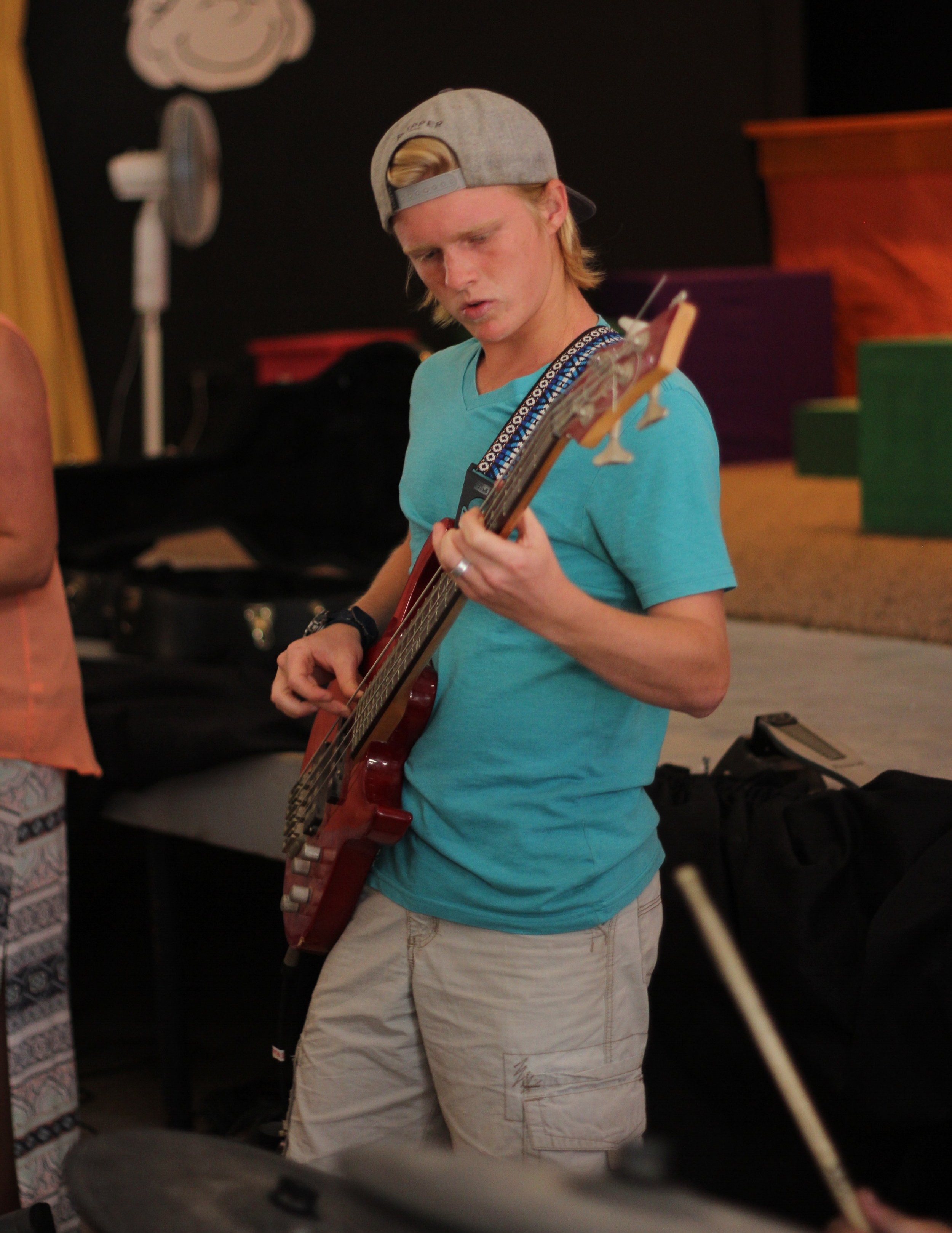 Students have the opportunity to learn musical instruments and perform at Dakar Academy.