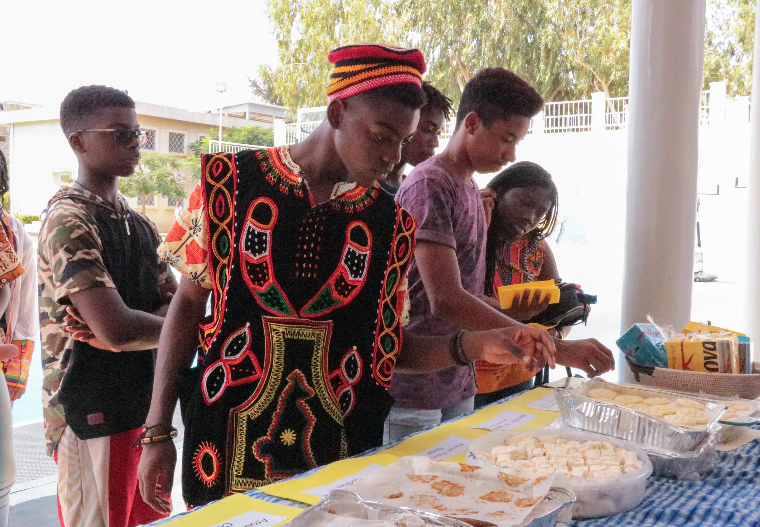 Dakar Academy's international student body celebrated cultural diversity by eating cookies from around the world.