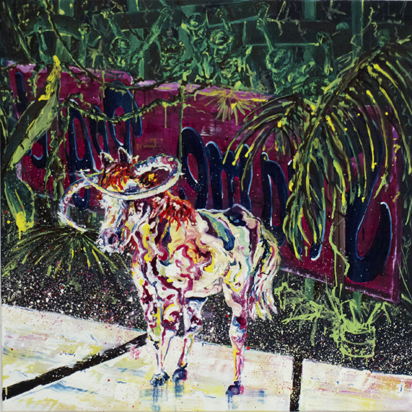 """""""Hinter den Feindlichen linien"""" oil on linen 120x120 cm 2015 private collection The Hague, NLD"""
