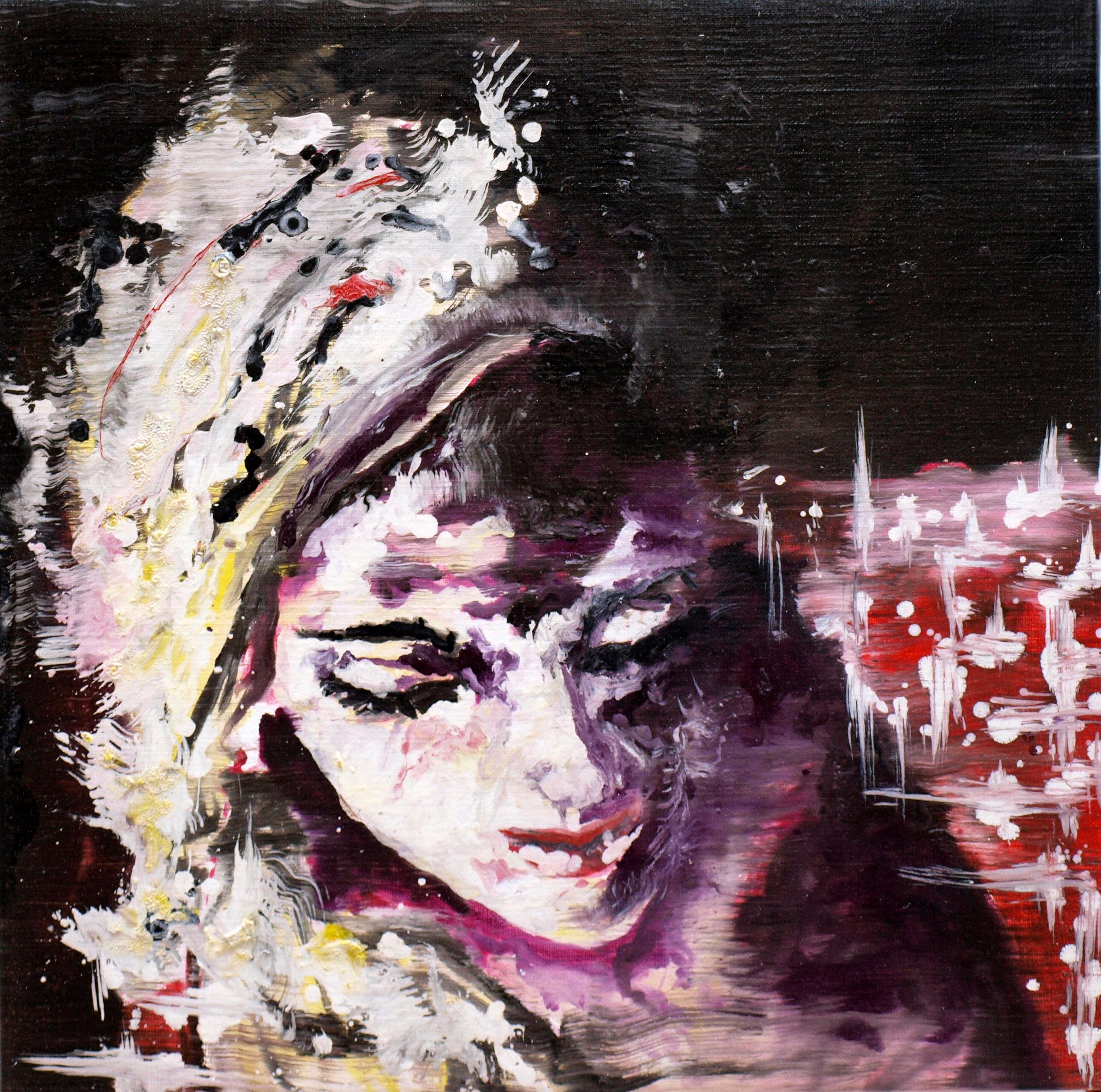 """""""Renaissance circus VII"""" oil on linen 50x50 cm 2012 ollection HNA Company, New York City, Shanghai"""
