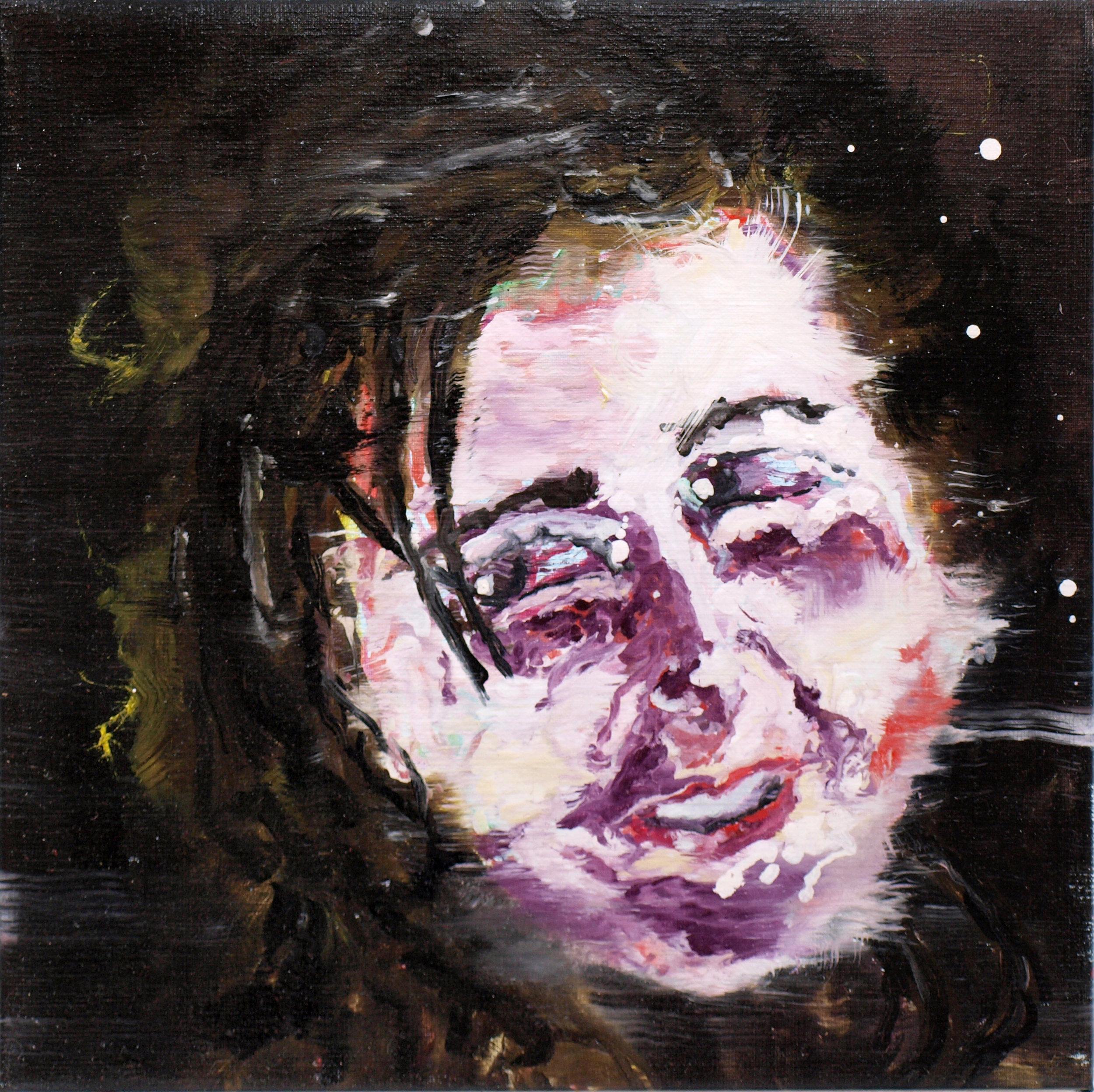 """Renaissance circus VIII"" oil on linen 50x50 cm 2012"