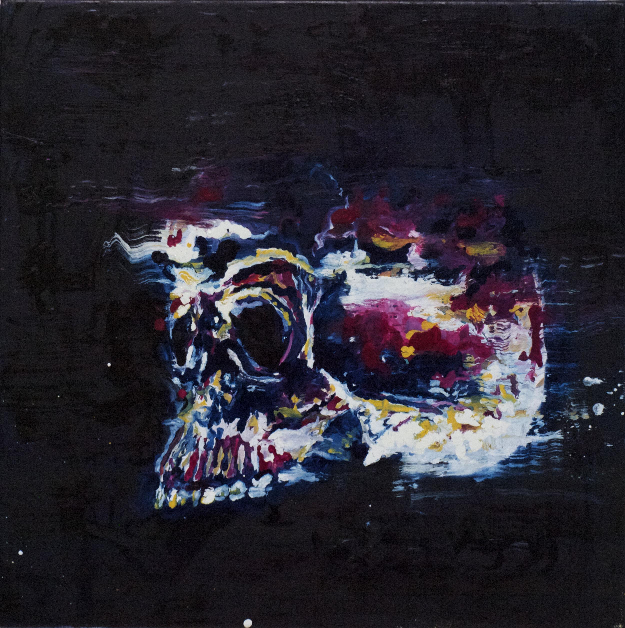 """Renaissance circus XII"" oil on linen 50x50 cm 2014"