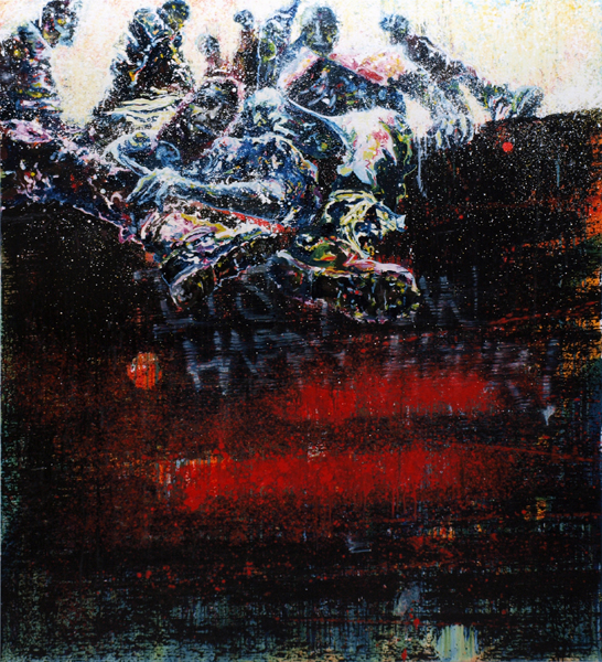 """It's now happy hour"" oil on linen 165x150 cm 2012"