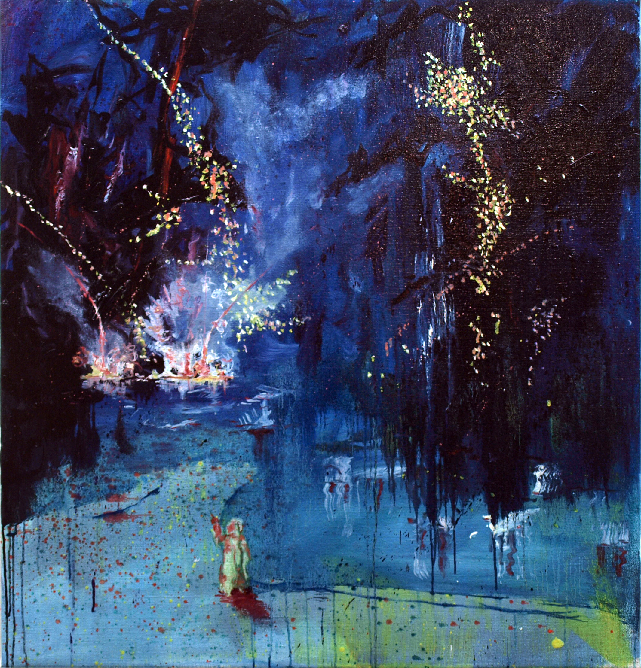 """night over tripoli II"" oil on linen 105x100 cm 2011 private collection Amsterdam NLD"