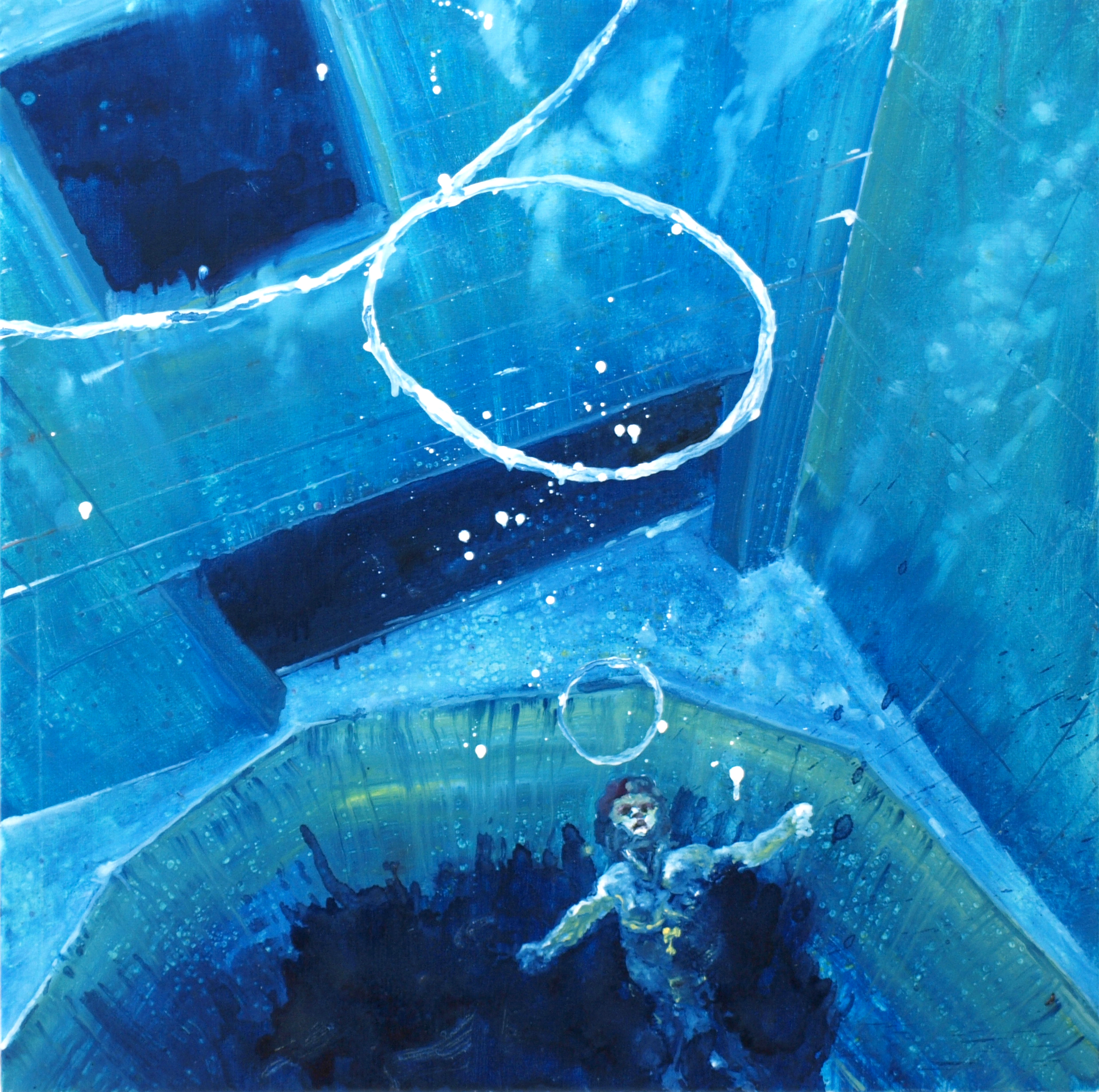 """Untitled (blue)"" oil on linen 77x77 cm 2012 collection HNA Company New York City-Shanghai"