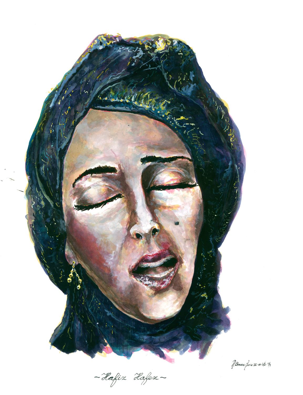 """Hafiz Hafez"" Ink on paper 65x50 cm 2014"