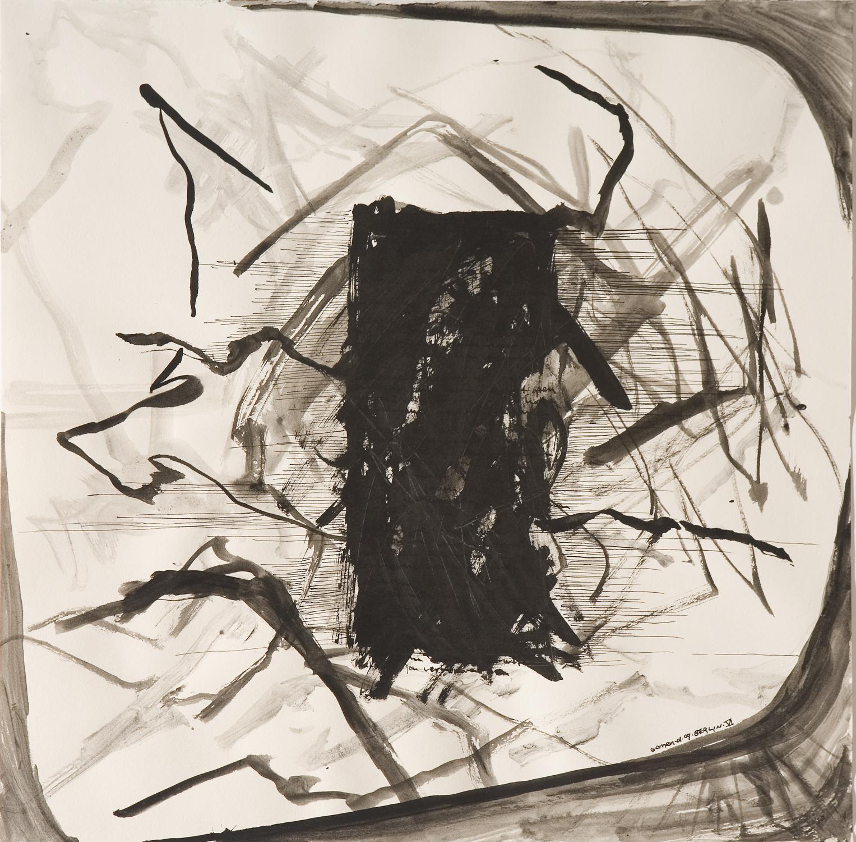 """""""# VI"""" Indian ink on paper 42x42 cm 2009"""
