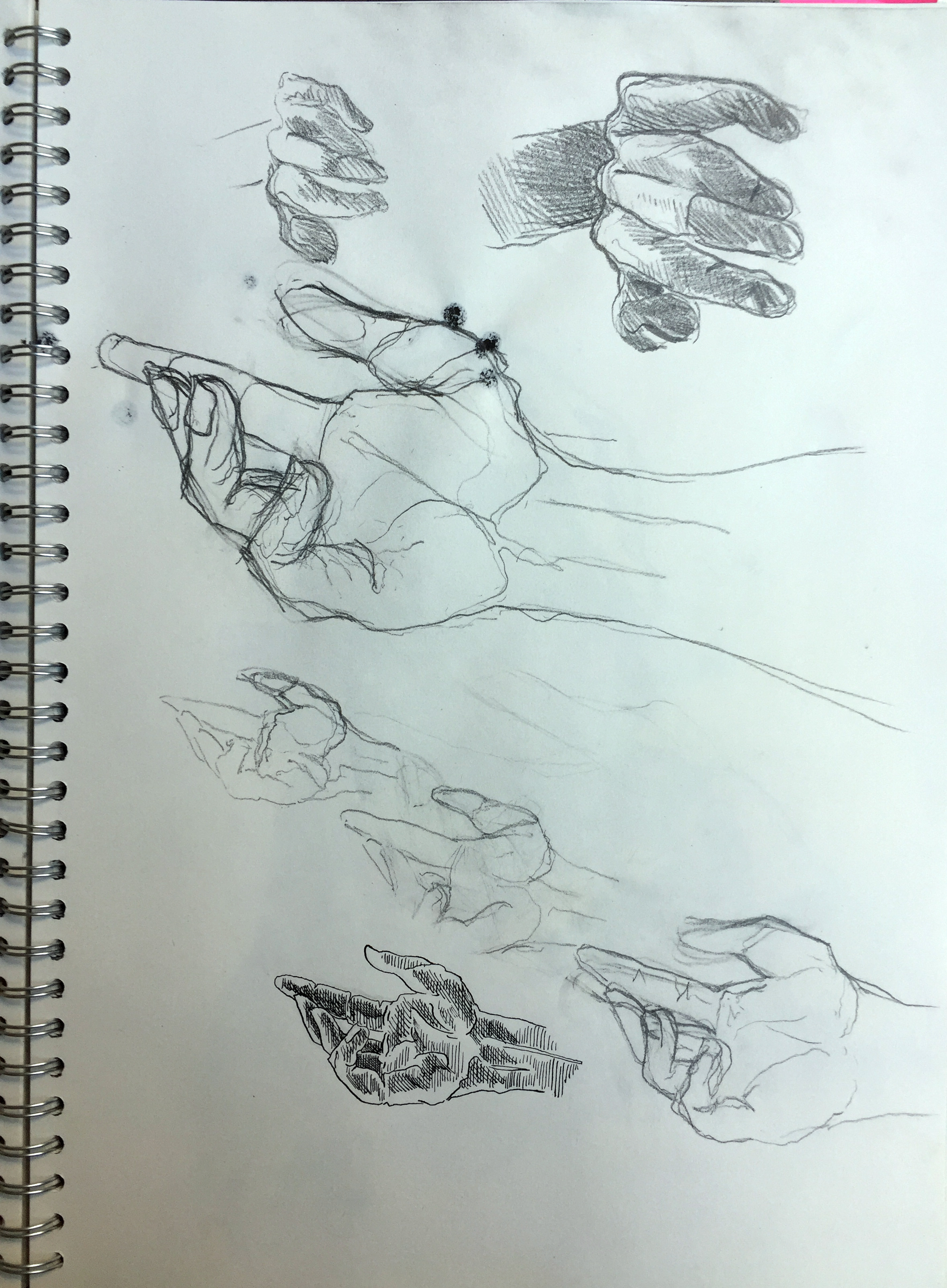 Sketch of hands Indian ink and pencil on paper 42x29,7 cm 2012