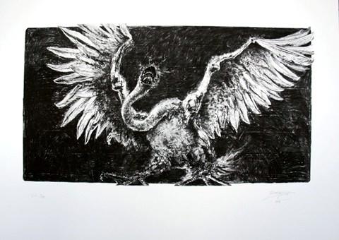 Swan silkscreen II 50x70 cm 380 gr/m acidfree paper