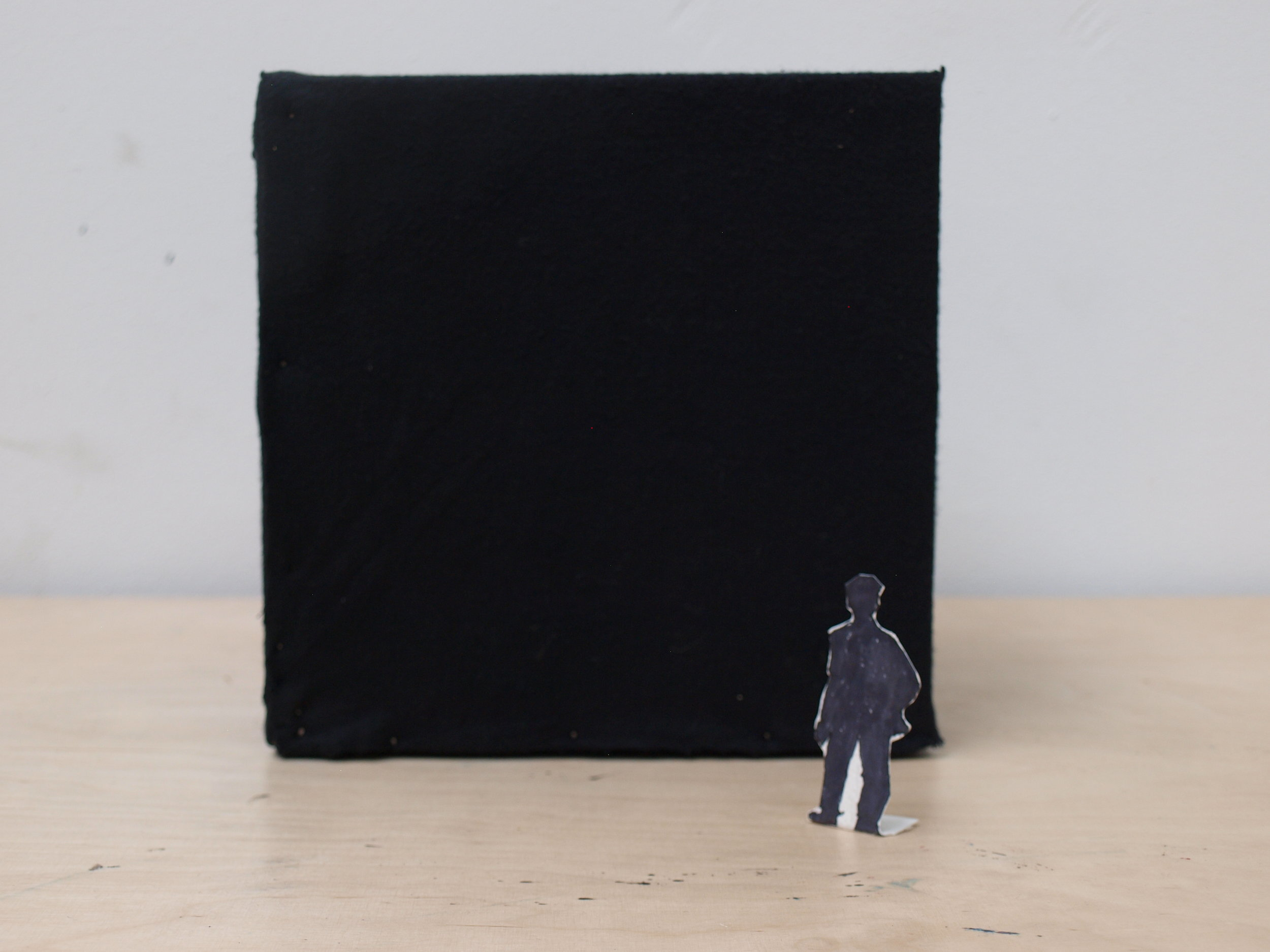Scale model of black cube Renaissance of Wonder scale 1:26,2 2016