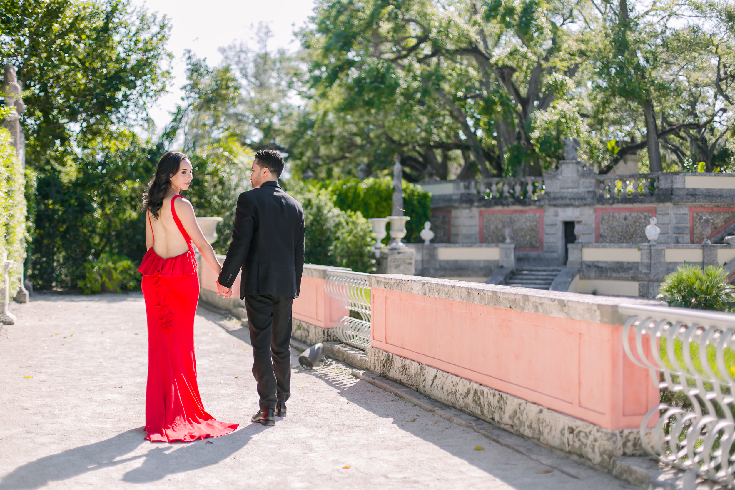 Vizcaya Museum Engagement Photos