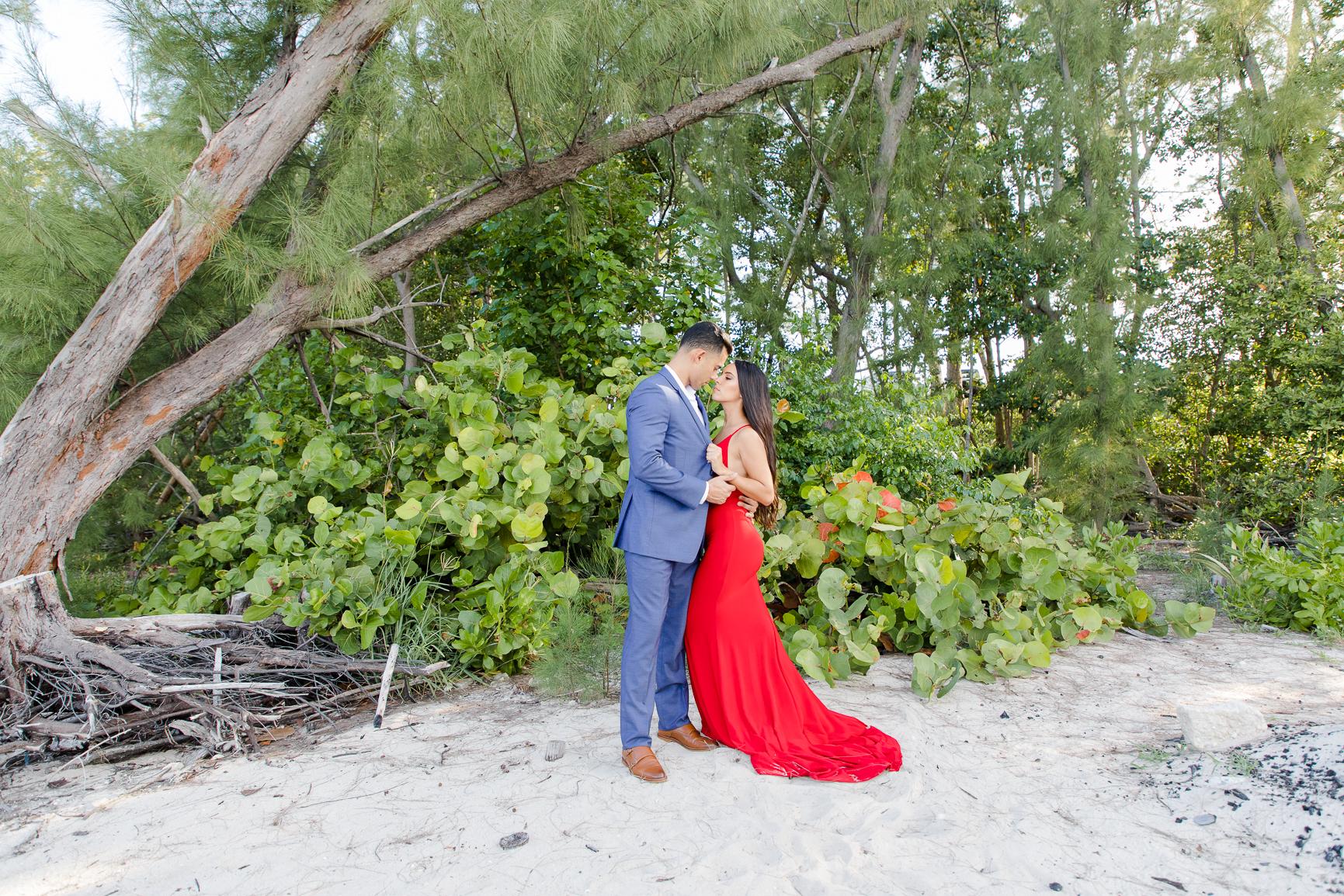Virginia Key Beach Park Engagement Photos   Miami Photographer