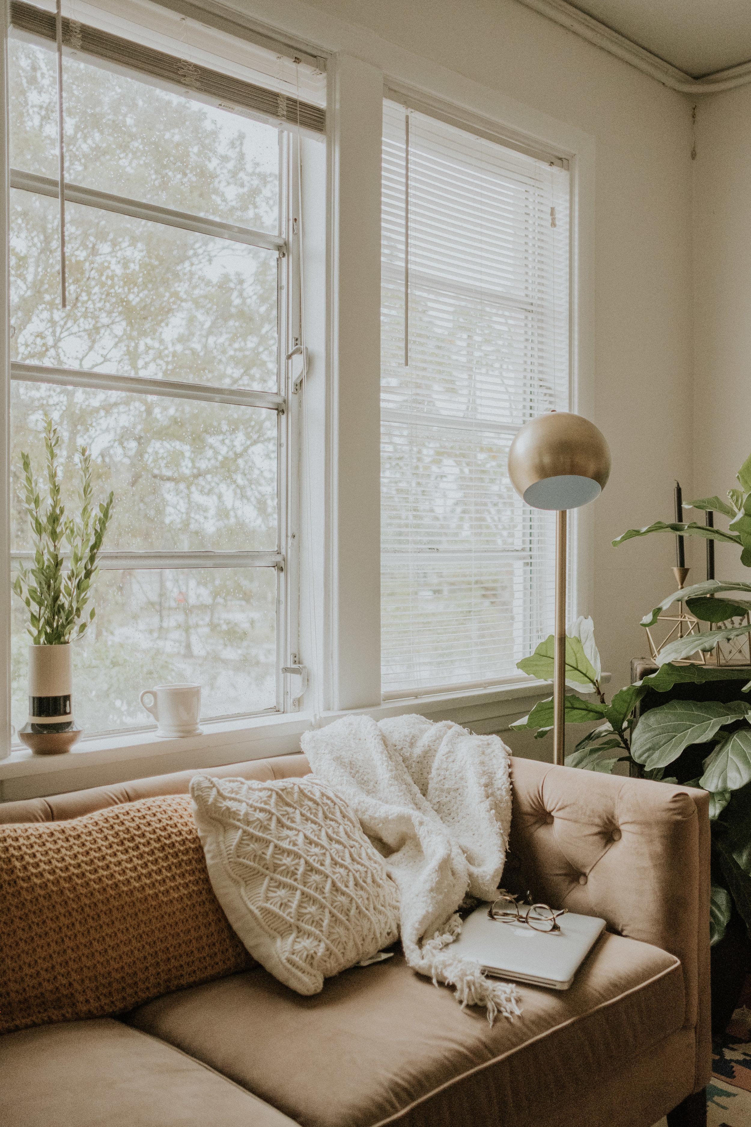 Sofa: World Market (found on Craigslist)