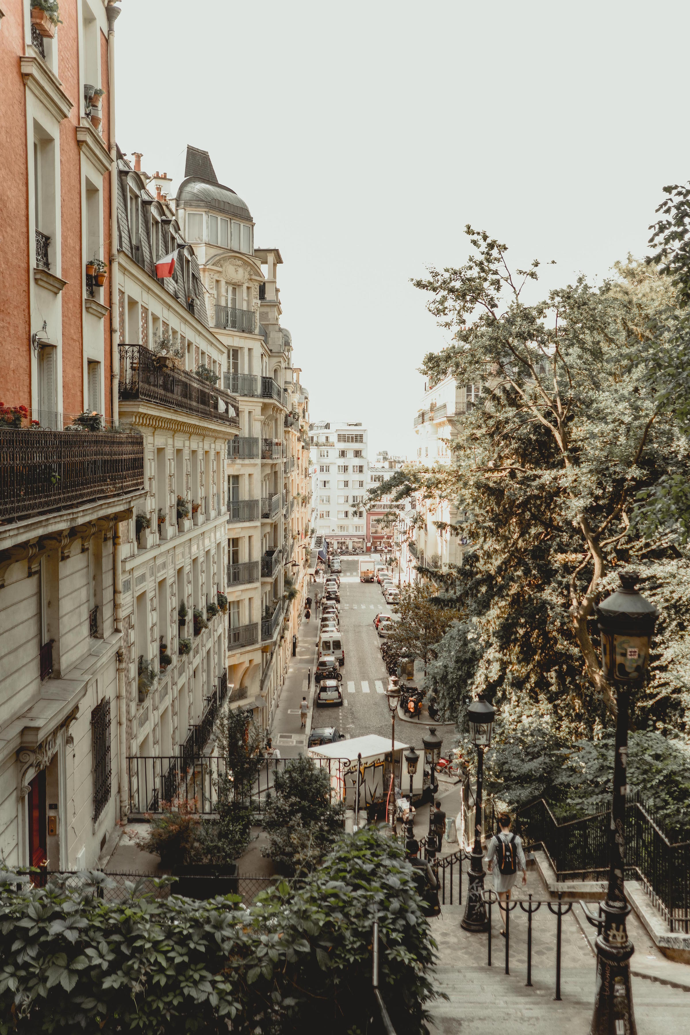 The view on our walk up to Sacre Coeur