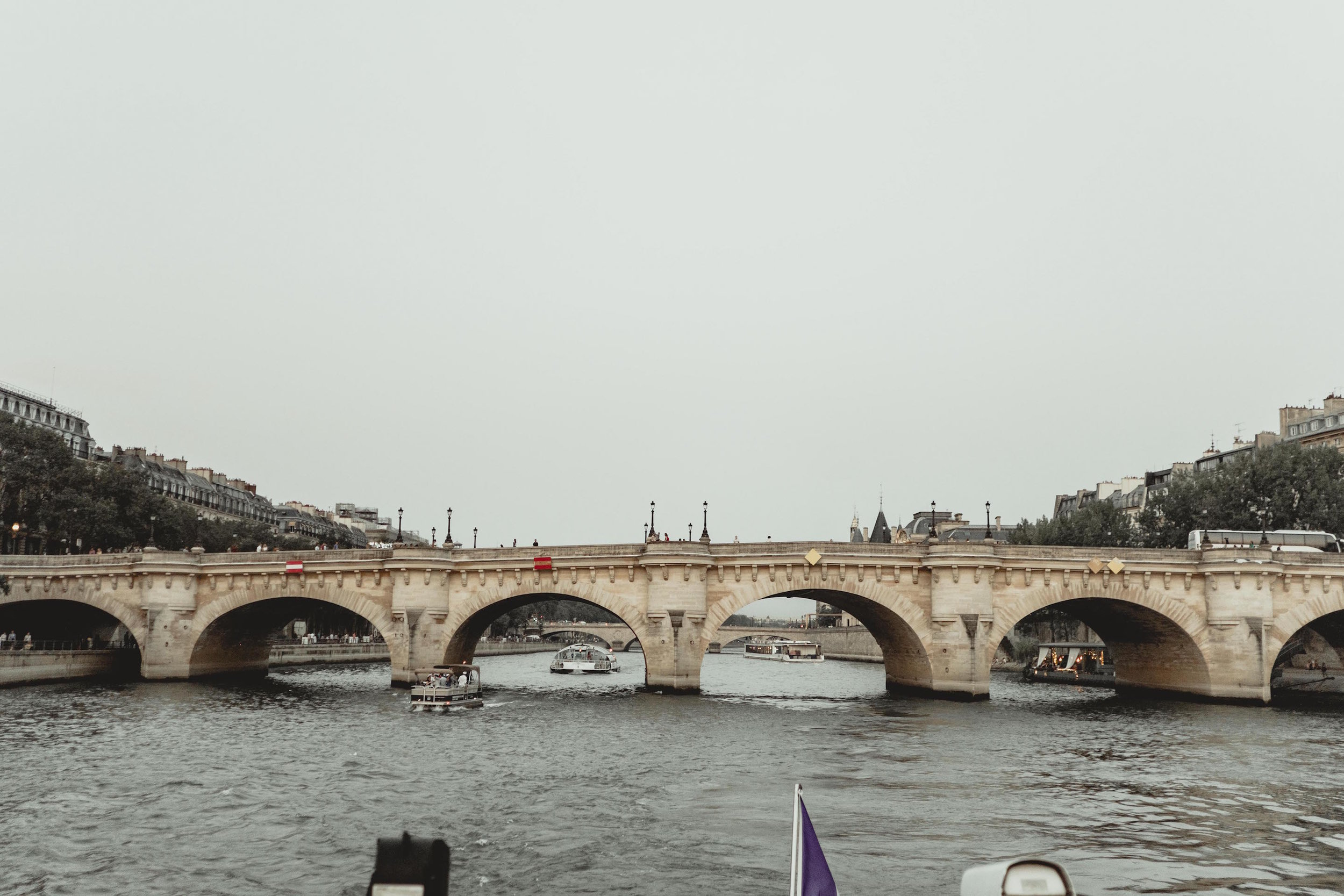 A boat tour down the Seine, to cap off the last day of our trip. It was a sweet finale.
