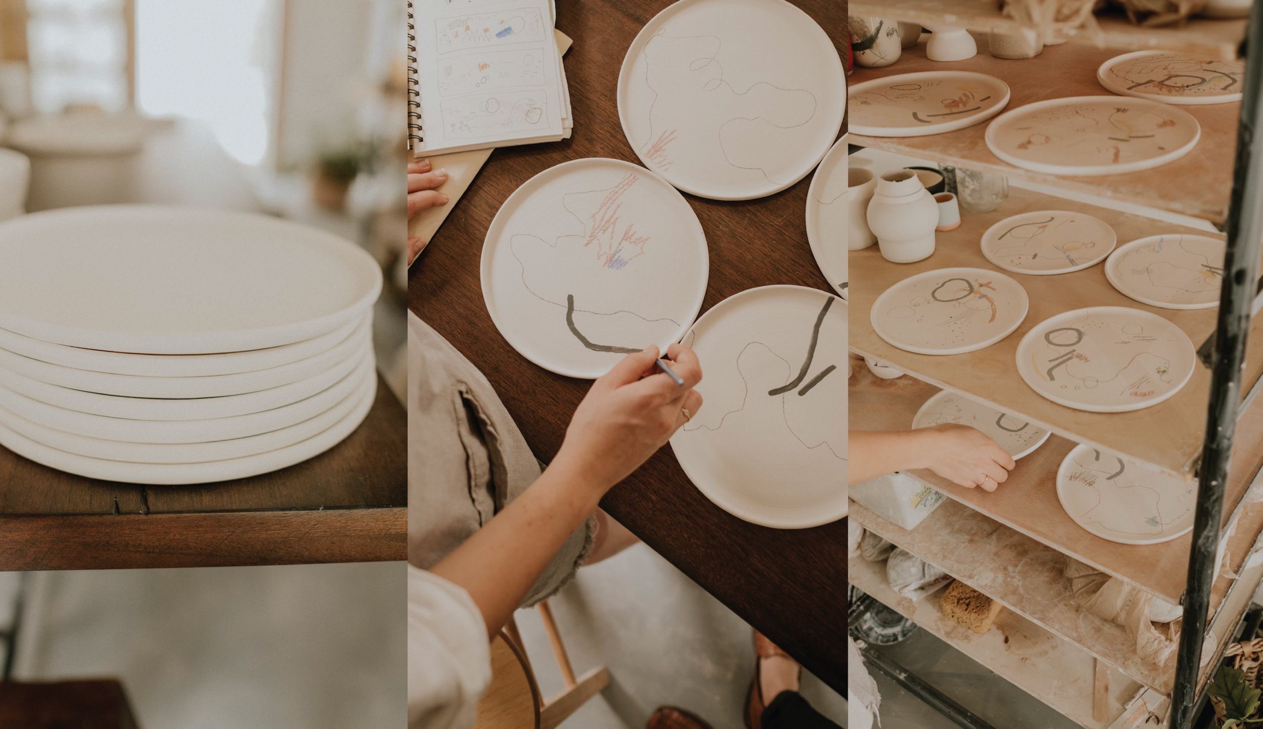 I'm a big fan of the way all the plates came out - those sweet circular canvases