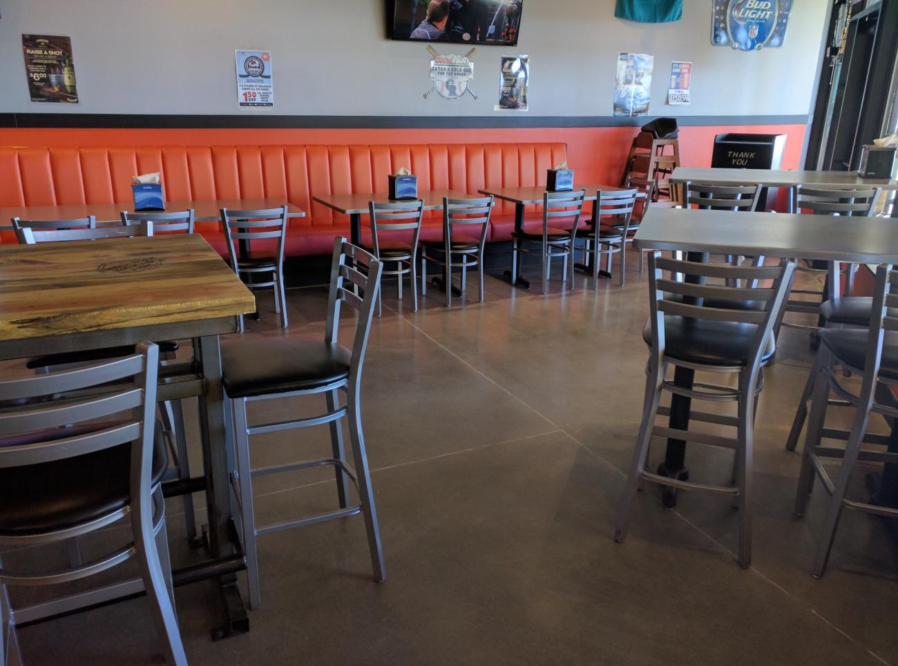 Polished Concrete Floors For Restaurant