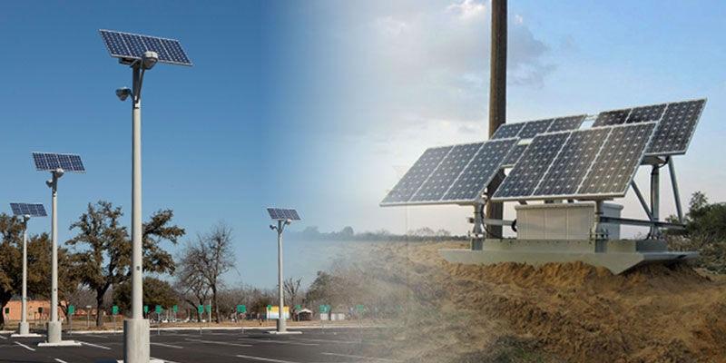 Solar Street Lights Installation