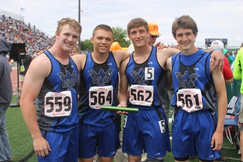 - Some CLASSY guys from MVP lost just one relay runner from last years medley squad.