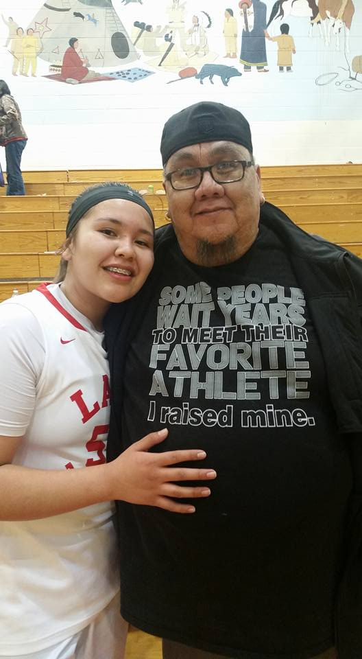 - Pine Ridge junior Matilda Anderson has some of the best feet in South Dakota. Solid in the post, can step out to 3-point land and shares the ball well with fellow post player, Taysha Big Crow. As fundamentally sound as they come, Anderson (pictured with her father, BIGGINZ, will be part of a UBER-talented Laura Big Crow Pine Ridge squad that returns for the 2018/2019 season.