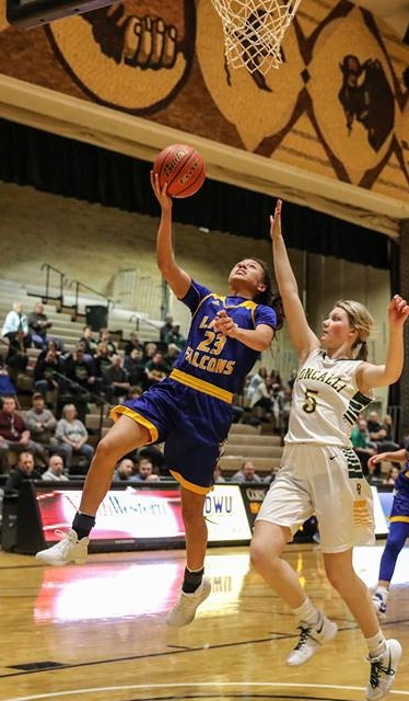 - Todd County freshman Caelyn Valandra-Prue helped lead Bob Boyd's Lady Falcons to a 17-3 record by averaging 19.1 points per game, 6.1 rebounds per game while shooting 47 percent from the field. One of the best athletes in South Dakota, Valandra-Prue is the defending Class A state champion in the 400 meters. Likely the fastest baseline to baseline player in the state of South Dakota.