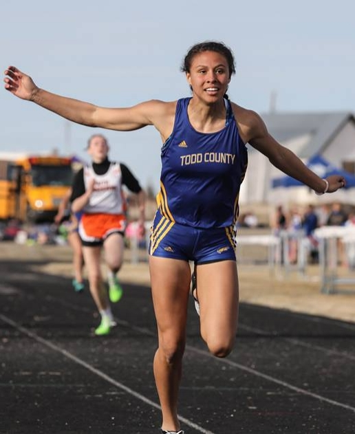 - The Todd County 9th-grader is the defending Class A champion in the 400 meters and has started her track season off with a bang, qualifying in the 100/200 and 400 meter events. Valandra-Prue has the fastest Class A 200 meters in the state and won the 400 meters in Pierre with a time of 58.53.              On the court, Valandra-Prue was a second-team Class A selection averaging 19 points and 6 rebounds. Just short of 1000 points after her ninth grade season.