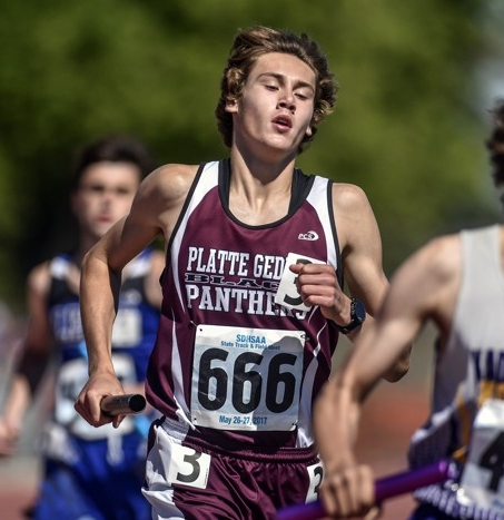 - Was very excited to go through the results from Howard Wood and see that Platte-Geddes sophomore, Caden Tegethoff got towed around the track to a lifetime best of 10:16 in the 3200 meters. Along the way, Caden punched his ticket to the state track meet by breaking the automatic qualifying standard. West Central's Derick Peters has the fastest Class A time of 9:22, followed closely by Custer's Joe Rush with a 9:29.Tegethoff has the 11th fastest time in Class A. Whether he places in this event at state, with some serious horse-power graduating from the A ranks, Fall of 2018 could be a tremendous cross-country season for this young man.