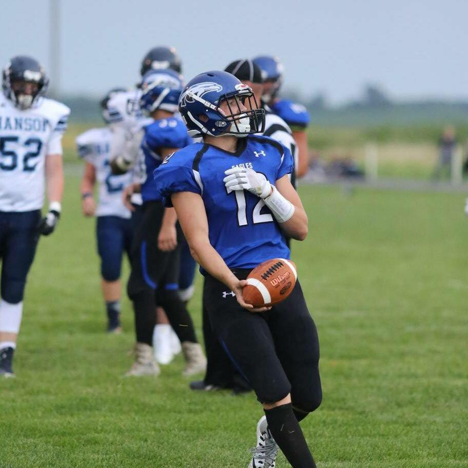 """- First Team All-State in football and basketball as a junior: Football:Trey King, Irene-WakondaAs Irene-Wakonda's top playmaker, King led the Eagles to a state championship game appearance, rushing for 1,871 yards and 34 touchdowns, while passing for 2,519 yards and 27 touchdowns. The junior added 61 tackles, nine interceptions, four forced fumbles and one defensive touchdown. """"Defensively, he is assigned the opponent's most dangerous player to defend and is a sure tackler in the open field,"""" I-W head coach Brent Mutchelknaus said. """"He is very coachable and only has to be told things one time."""""""