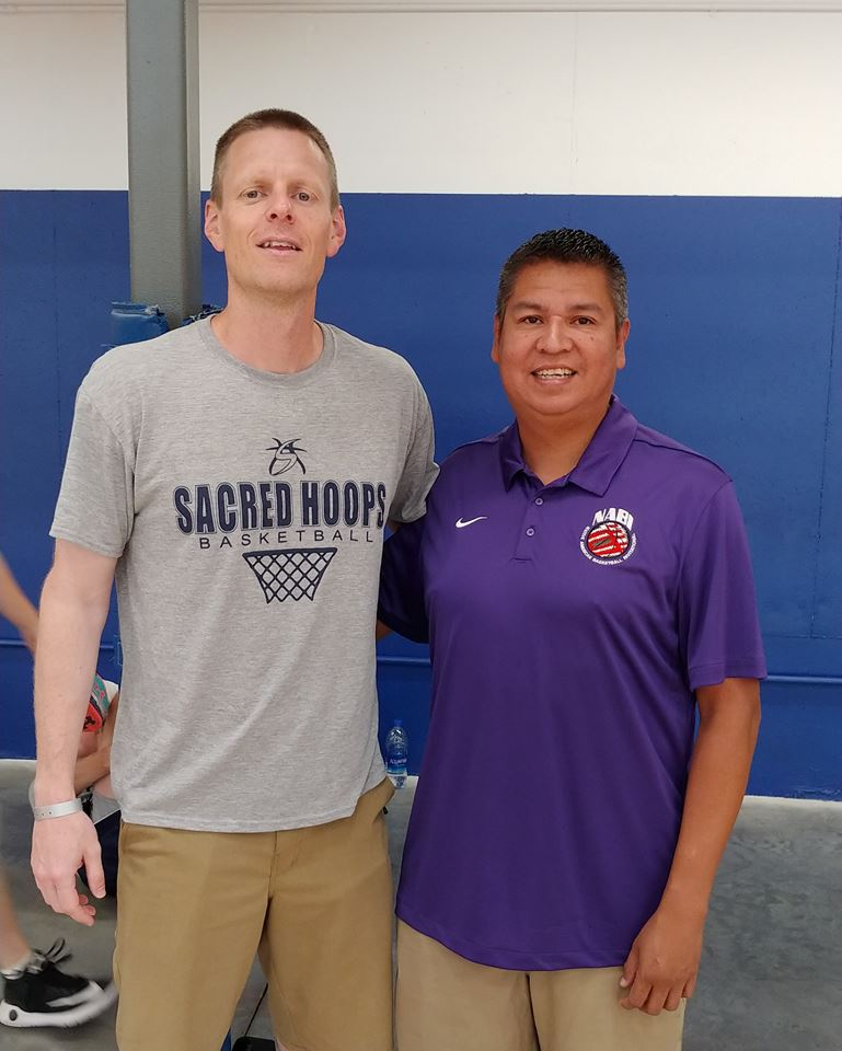 - Kind of a cool meeting this summer as Sacred Hoops Coordinator, Allen Betram met with NDN Sports and Big-Time Haskell Indian Nations University supporter Brent Cahwee. Brent does a great job of covering Native American sports across the country. During the recently contested AAU tournament in Kansas City, Brent hopped over from Lawrence to take a look at some of the South Dakota basketball players he writes and talks about quite often.