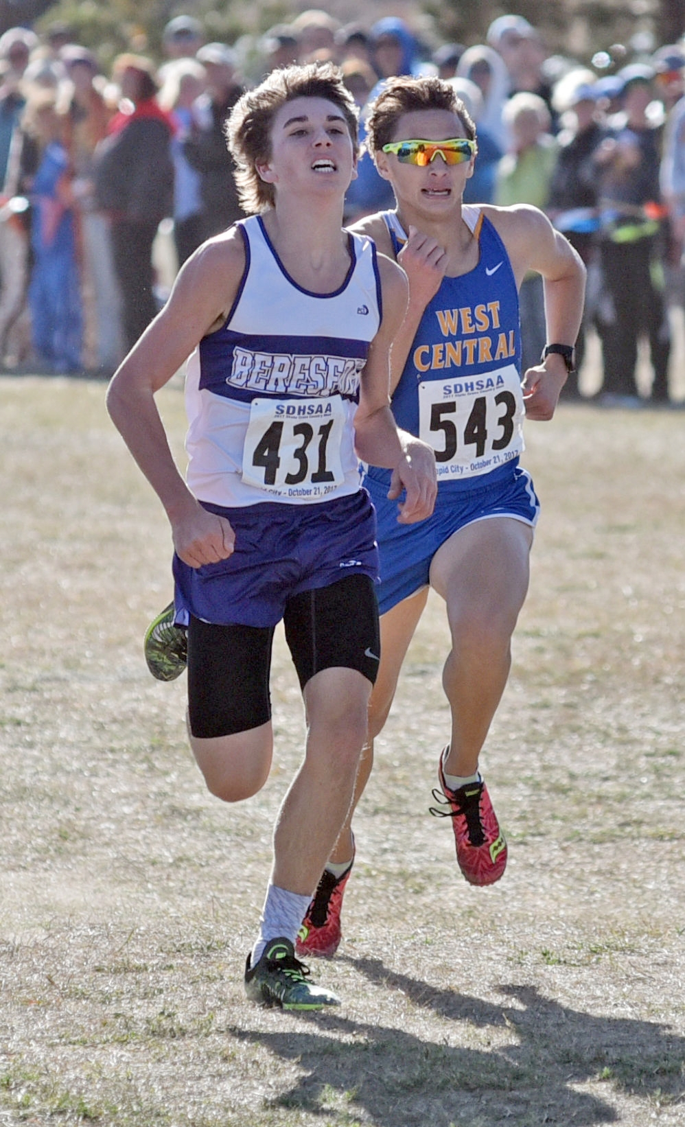 - At the 2017 State cross-country meet Beresford's Alec Atwood edged West Central's Braden Peters:The times - Atwood 15:58.74….Peters - 15:59.41