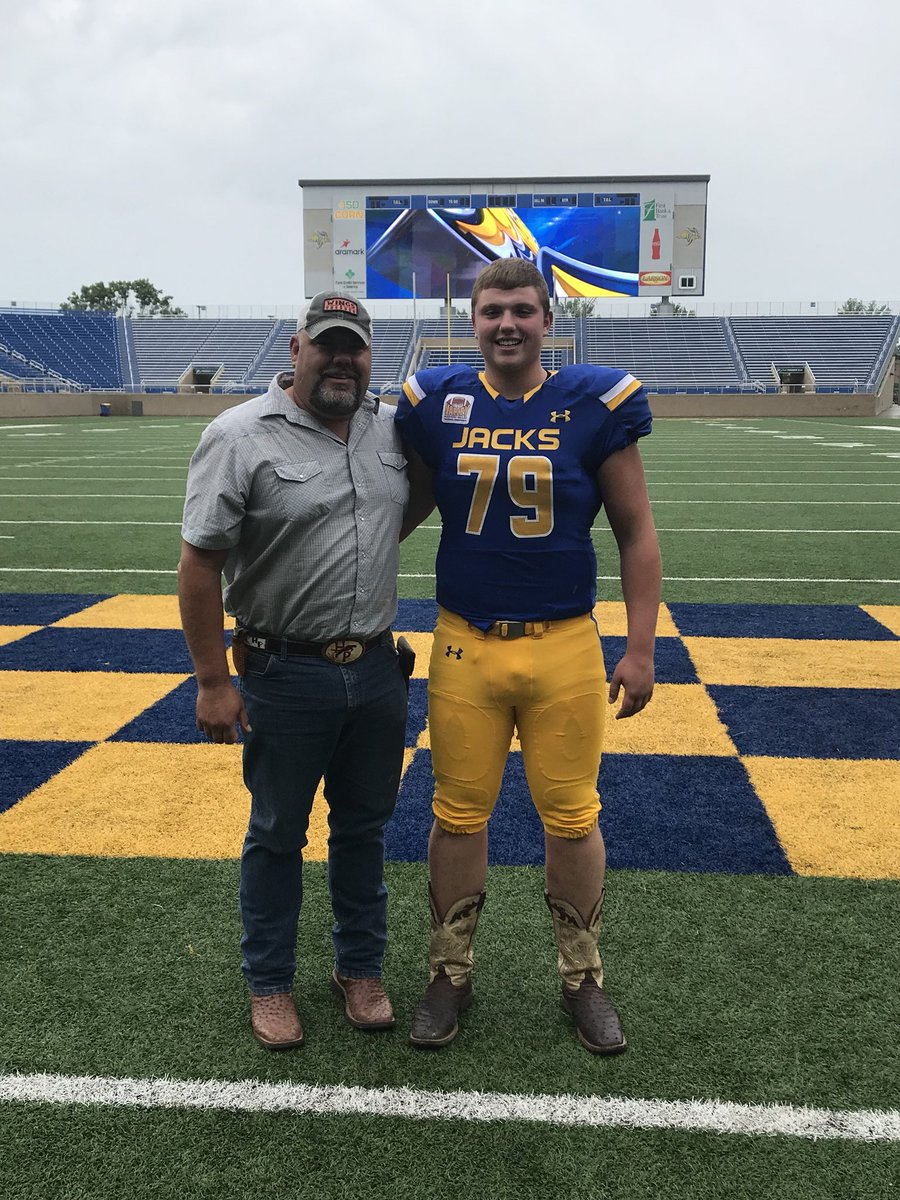 - Six-foot-7, 300 lb senior Bo Donald will continue his football career at South Dakota State.Brock Nolz is another big guy up front and Taylor talked bout Tyler Resick.Tyler falls under the radar a little bit but I've been very impressed with him both offensively and defensively...