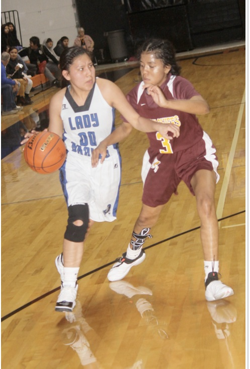 """- Crazy Horse coach James Bagwell - """"She's putting up crazy numbers and leading as a sophomore. She rebounds and defends. She's averaging 17 points a game 7 rebounds and 3 steals right now. She has had 3 games straight with 20 plus points and 6 games this year with 20 plus points . She's efficient the girls is special."""""""