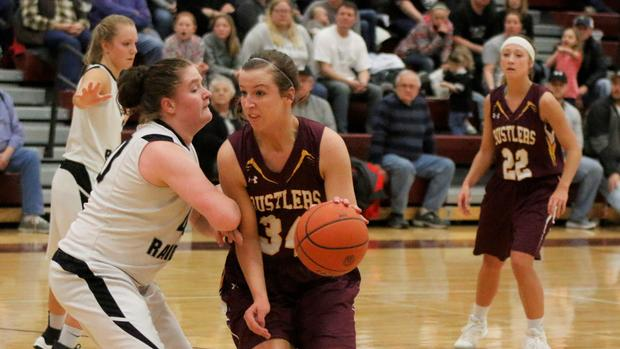 - What will Tom Young's Ethan Rustlers do when Karly Gustafson graduates this spring…Probably reload like they always do.That said, Gustafson, a 6-foot forward with guard abilities is wreaking havoc on the Class B field and standing at 19-0 with one game (TDA) remaining on their schedule.This team is tough…Last two outings…Beat 18-2 Corsica/Stickney (in Stickney, 54-45)…Beat 14-4 Freeman last night 50-31 with Gustafson recording 20 points and 7 BOARDS!!!