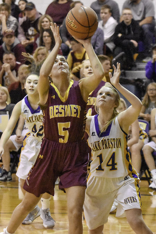 Rynn Osthus - Wow, what a season for Doug Osthus and his De Smet squad.I think all of South Dakota was amazed when Osthus took it the length of the floor and delivered one of her 8 assists to Kennadi Bucholz in that classic 64-62 win over Corsica-Stickney…Osthus is as tough and crafty as any guard in the B ranks…How cool that she and her father will always have these moments to remember. Rynn Osthus, De Smet, 5-9, Sr., Guard (12.4 ppg, 5.5 apg)
