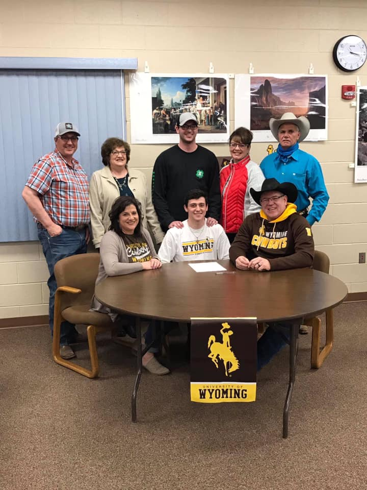 - Last summer, Wall's Cash Wilson won the Saddle Bronc competition and the National Finals in Rock Springs, Wyoming.Wilson has signed to continue his athletic and academic pursuits for the University of Wyoming.