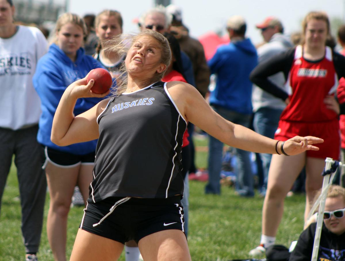- Not a lot of field and track on deck at the moment, BUT, WHOA did Elk Point Jefferson's Kenna Curry has a monstrous first outdoor meet of the season. Shot Put - 36'00.00