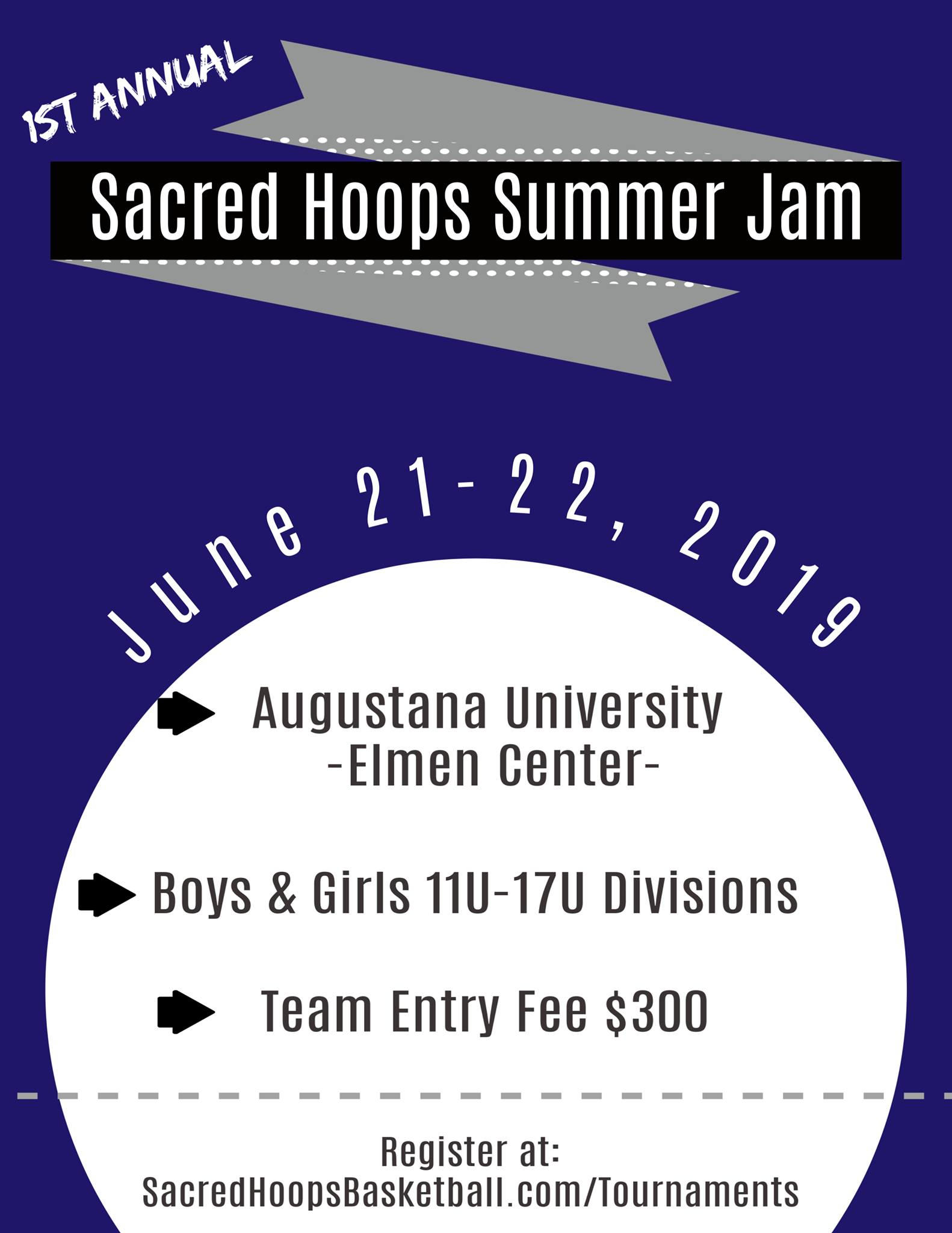 - 3 Game GuaranteesPaid Referees1 Day tournamentsMulti Team discounts availableLink to register: https://sacredhoopsbasketball.com/tournaments