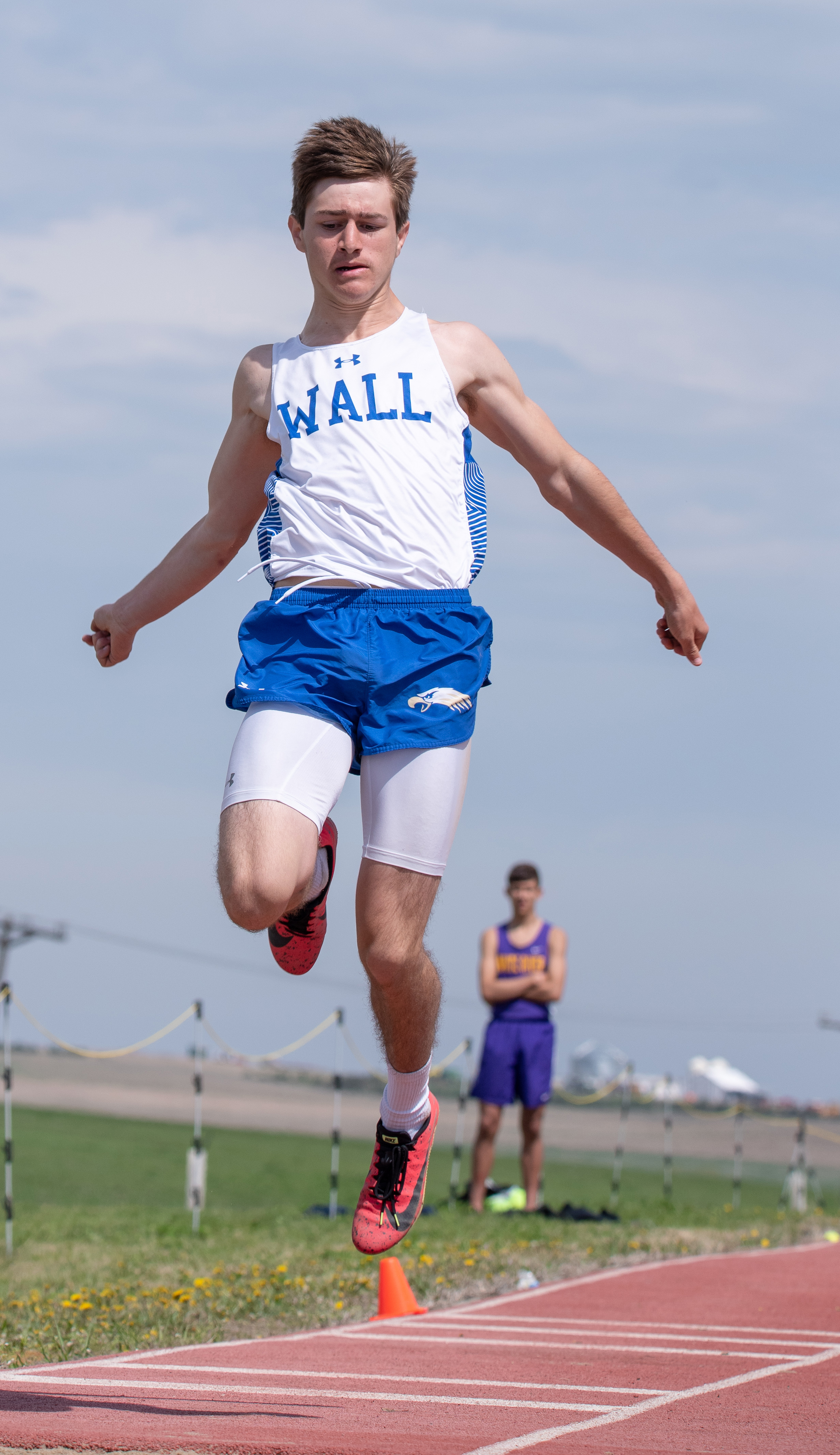 """- Believe this is Tack Tines from Wall (Let me know if I'm wrong) but the sophomore has the 4th best long jump in the B ranks - 21'4""""He also has the 11th ranked triple jump so far this season.Placed in the triple jump and 200 meters as a freshman one year ago."""