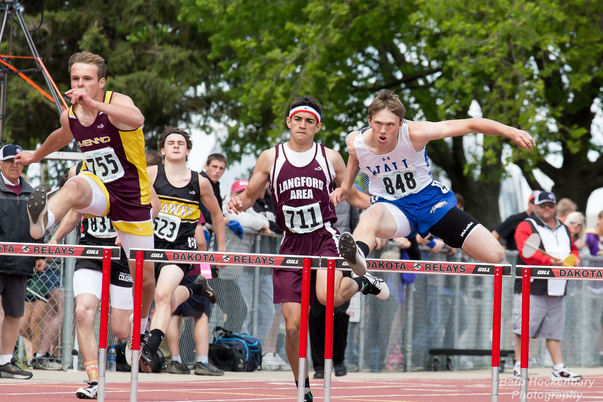 - The Wall Eagles under the direction of Karol Patterson were superb last season, finishing 2nd in Class B, trailing only Viborg-Hurley.Law won two state titles:110 hurdles: 14.94 (first time under 15-flat)300 hurdles: 40.56Law was hampered with a leg injury through much of the track season, so, next season, when he's healthy, this guy is going to go BIG!