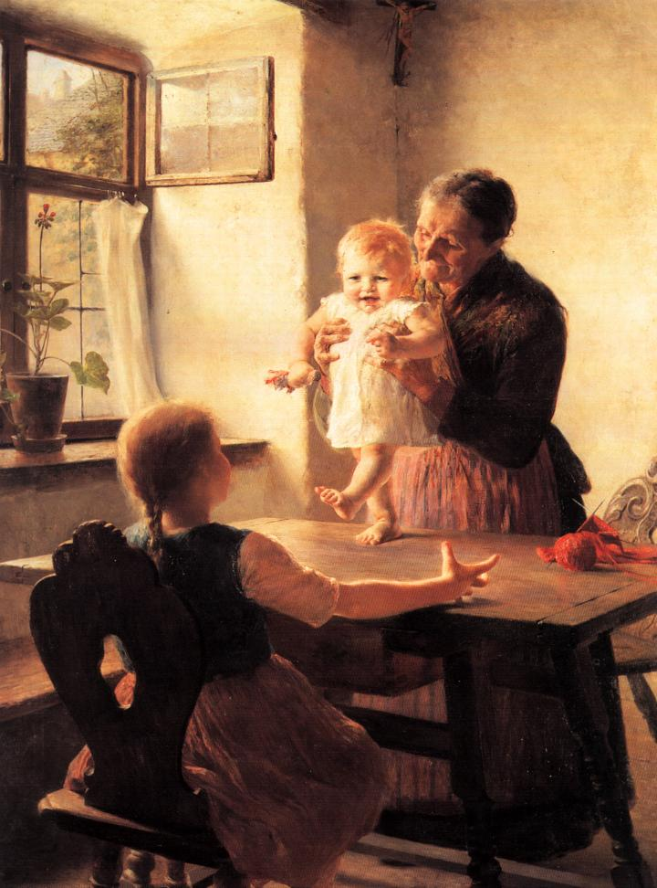 The First Steps, by Georgios Jakobides, 1892. Public Domain
