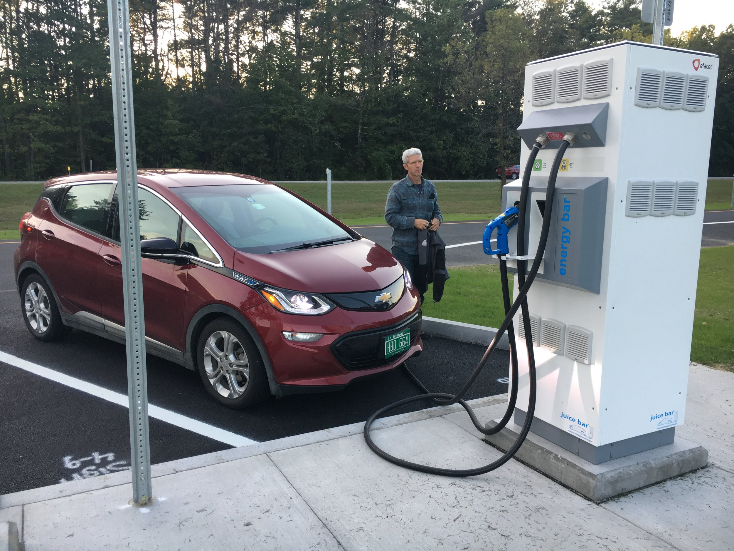 Widespread adoption of electric vehicles will require a network of charging stations in key locations.  Photo: Julie Campoli