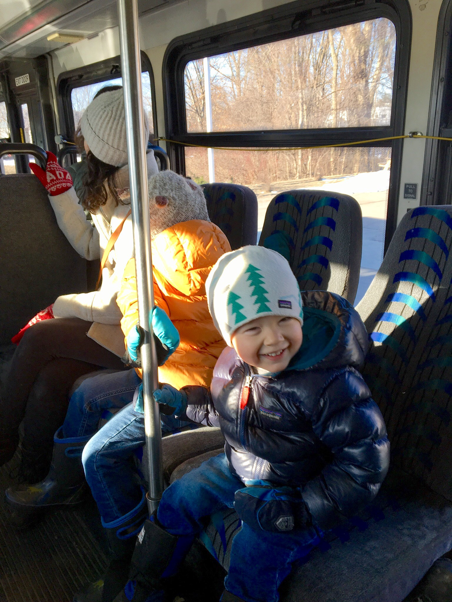 Enjoying a GMT ride to school